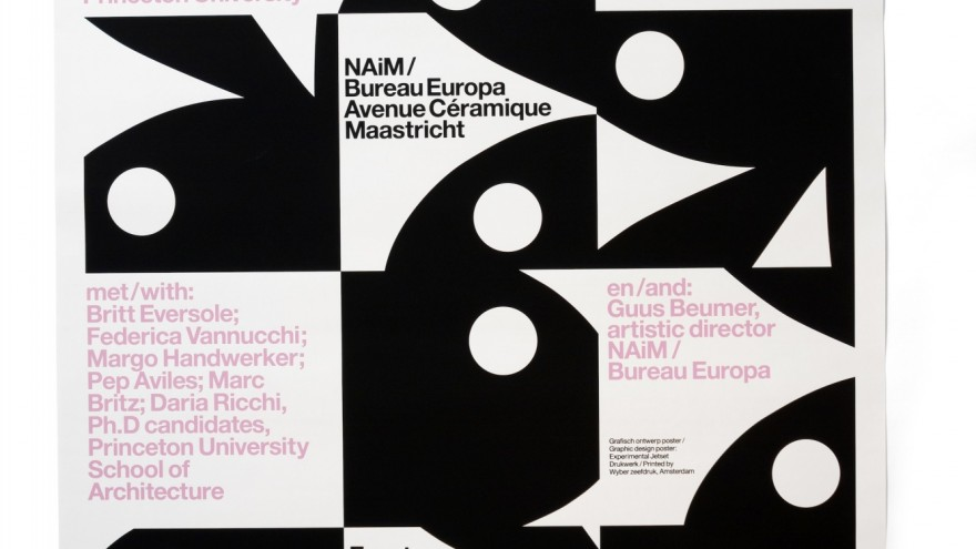 'Playboy Architecture', A0-sized screenprinted poster for NAiM / Bureau Europa (Maastricht, NL), 2012.