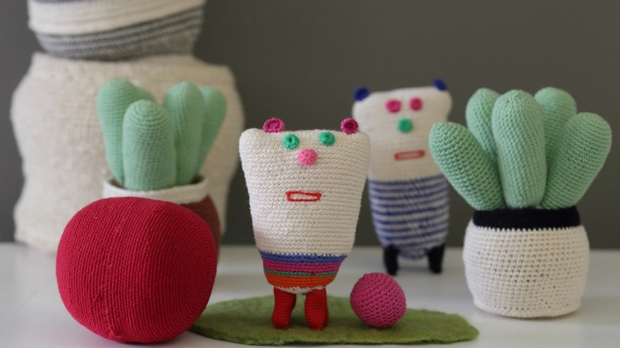 Projekt started off producing delicate, once-off scarves and then ventured into producing toys and quirky decorative objects such as the crocheted cacti it has become well-known for. Image: Henk Hattingh.