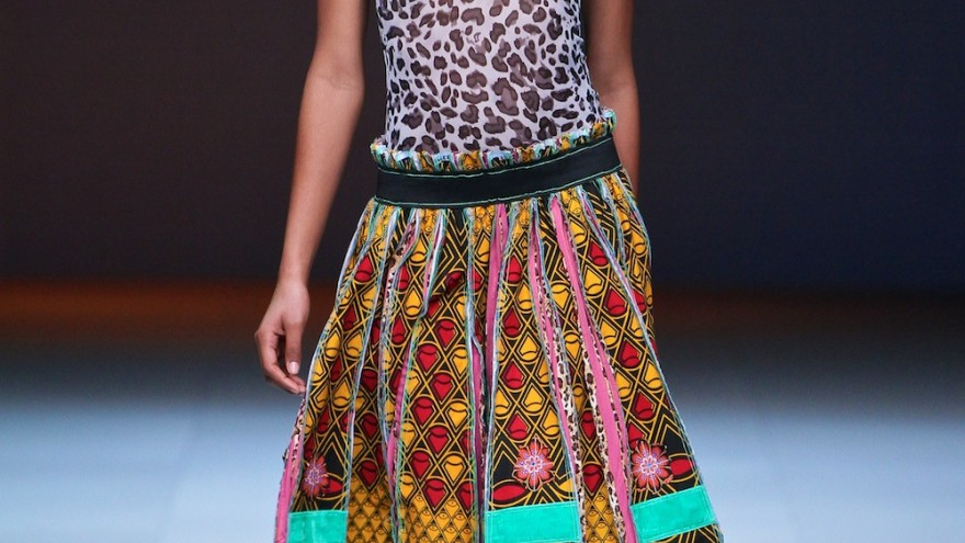 Marianne Fassler Spring Summer collection 2015 shown at the Mercedes-Benz Fashion Week Cape Town. Image: Simon Deiner / SDR Photo