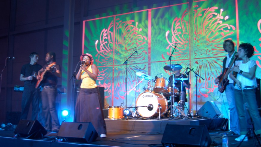 Freshlyground, performing at the Design Indaba Party in 2005.