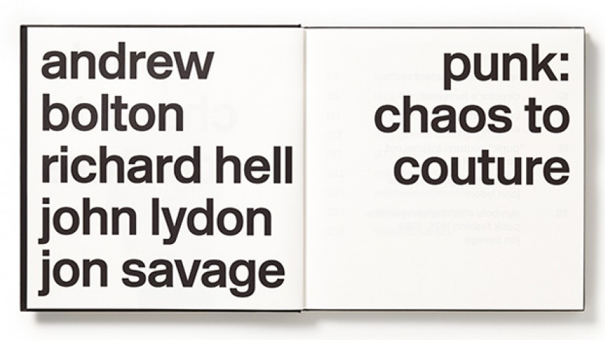 Punk: Chaos to Couture catalogue by Abbott Miller.