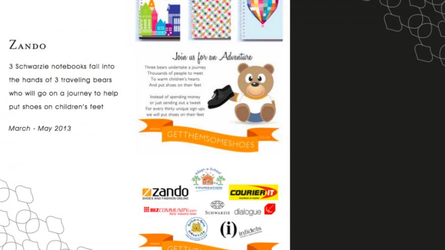 Schwarzie involvement in Zando GetThemSomeShoes campaign.