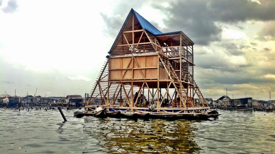 Makoko Floating School by NLÉ. Photo courtesy of NLÉ.