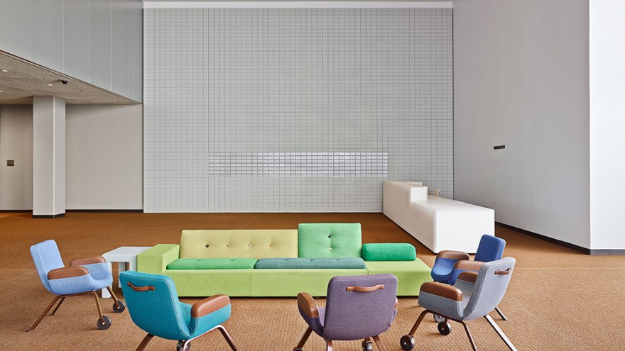 United Nations Delegates's Lounge interior by Hella Jongerius.