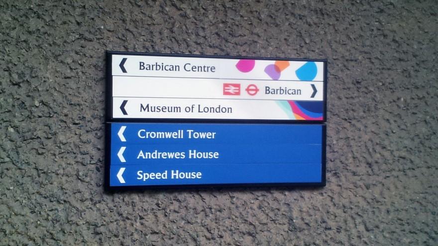 AGI Open London 2013. Barbican sign.