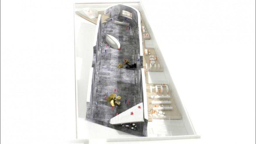 Danish National Maritime Museum model by Bjarke Ingels Group.