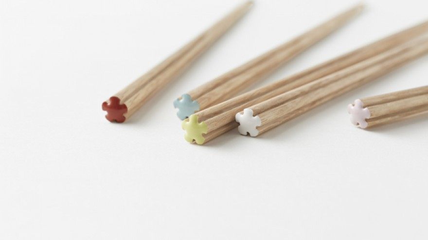 The Hanataba chopsticks by Nendo. Image: Akihiro Yoshida.