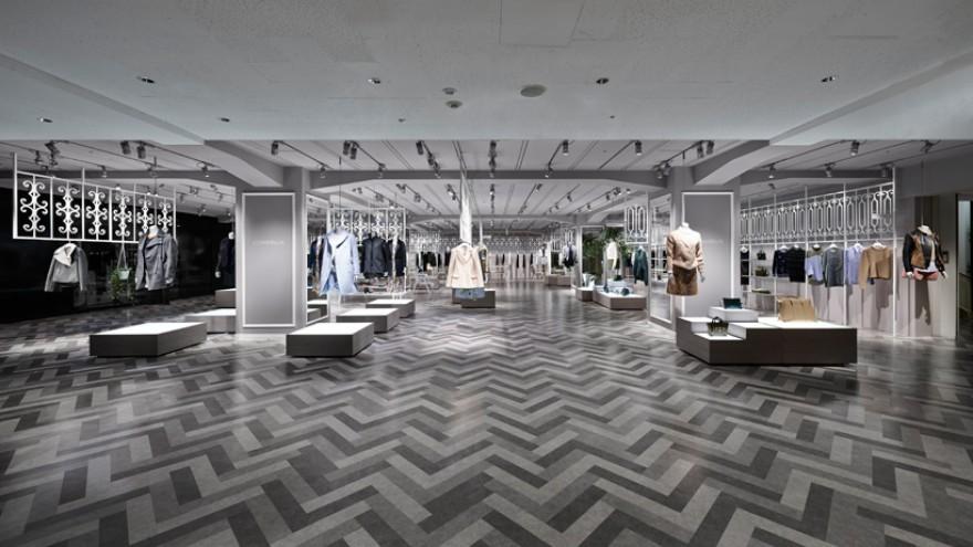 COMPOLUX department store interior by Nendo