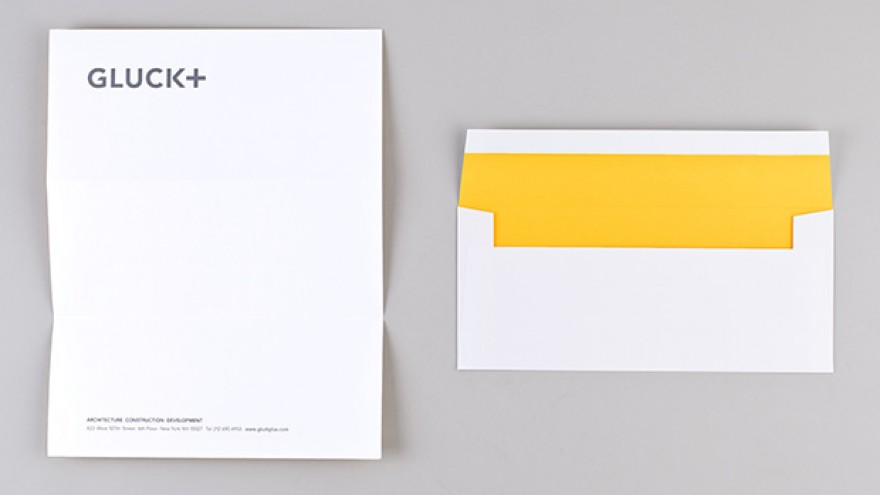 GLUCK+ visual identity and name by Eddie Opara.