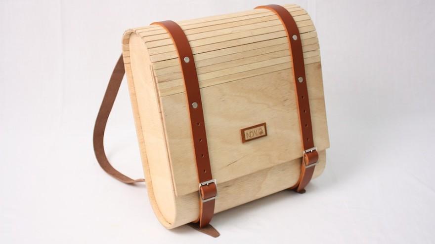 Umtwalo Wooden Backpack by Inga Gubeka.