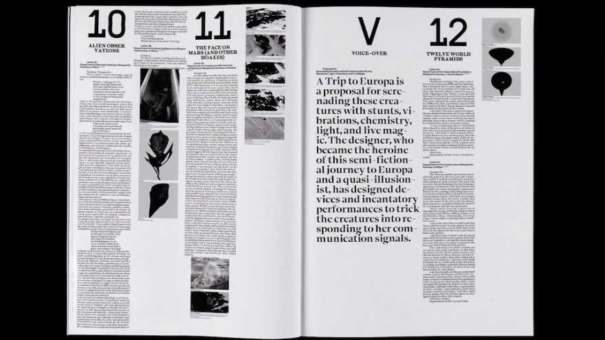 Programme for Blockbusters for Outer Space Creatures, designed by Le Studio Humain (Disclaimer).
