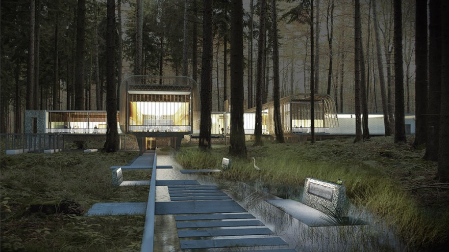 Karura Forest Environmental Education Centre in Kenya by Boogertman + Partners Architects.