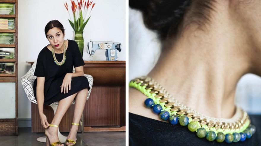 A neckpiece from Henriette Botha's The Fall collection. Image: Henriette Botha.