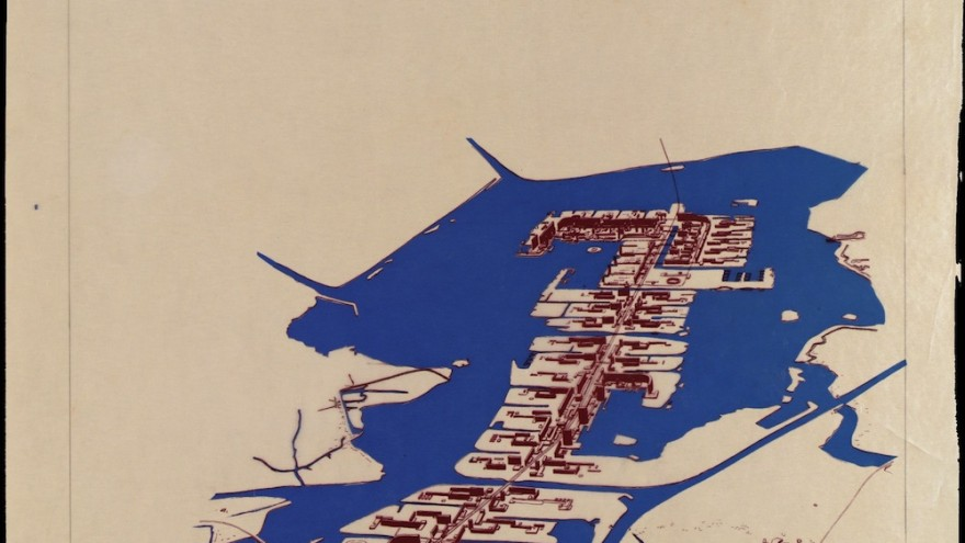Pampus Extension Plan, Amsterdam, 1964, collectie Het Nieuwe Instituut, BROX 1411t5-2, Van den Broek en Bakema Architects