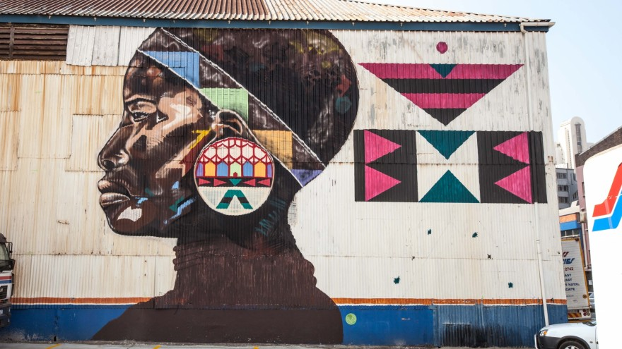 Mural in Rivertown, a newly defined arts and culture precinct in Durban and a legacy project of UIA2014. Photo: Luca Barausse.