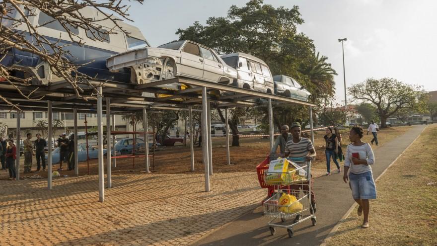 Berlin architectural practice raumlabor's Rush Hour installation in Berea, Durban, part of UIA2014's extensive fringe programme Photo: Roger Jardine/Goethe Institute.