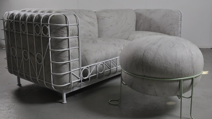 The Veld couch and Pebble Stool by Dokter and Misses and Ronel Jordaan.