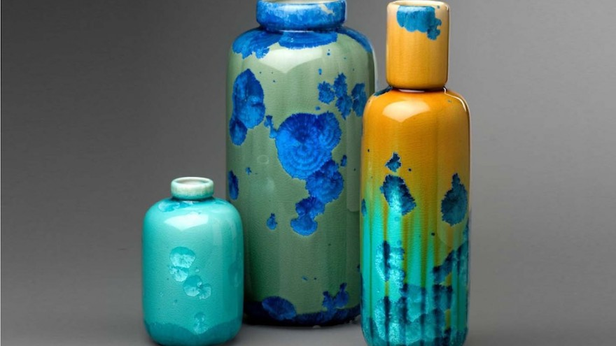Crystal Jars by Milan Pekar shows his amazing eye for form, technique, and colour.