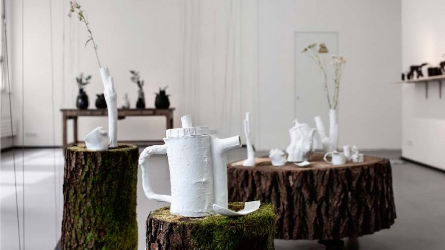 In Made by Forest Ceramics, Bara Vinorova uses the forms of trees to lend shape to fragile vases and tea-ware.