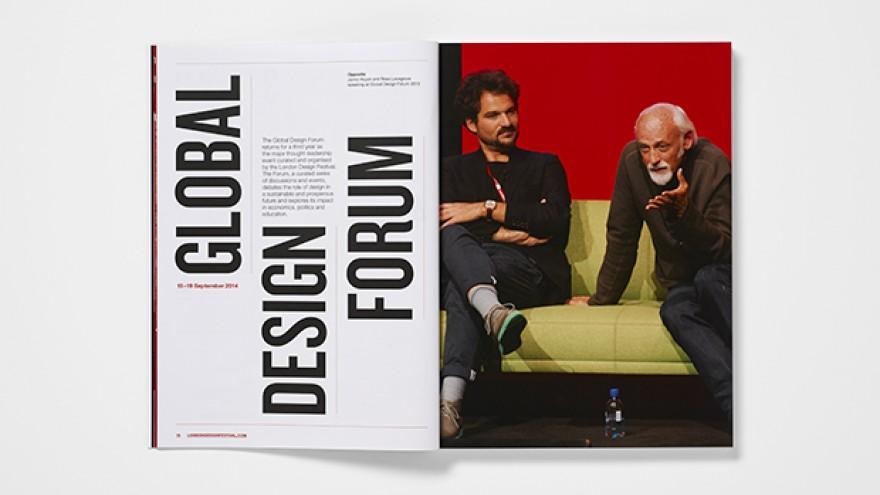 London Design Festival visual identity by Pentagram's Domenic Lippa.