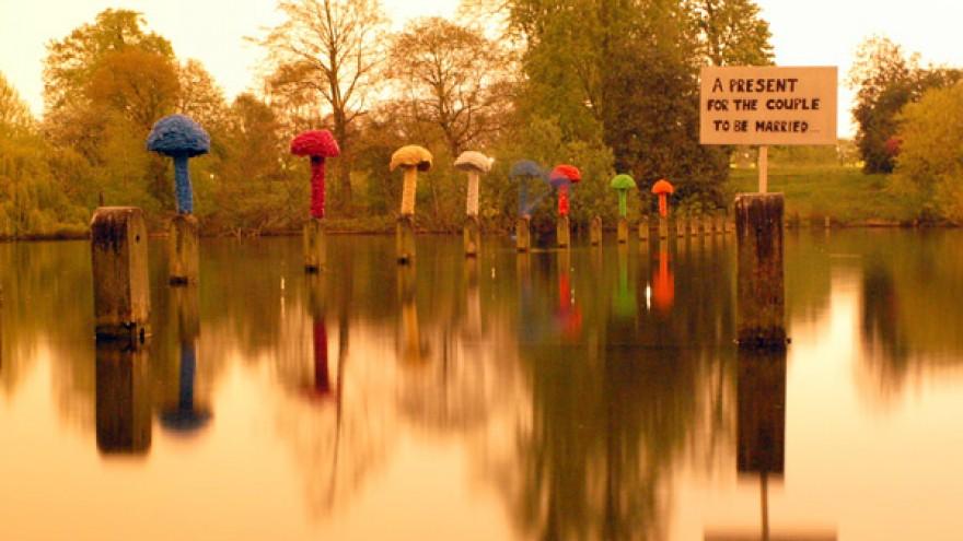 Christiaan Nagel's mushrooms in Hyde Park