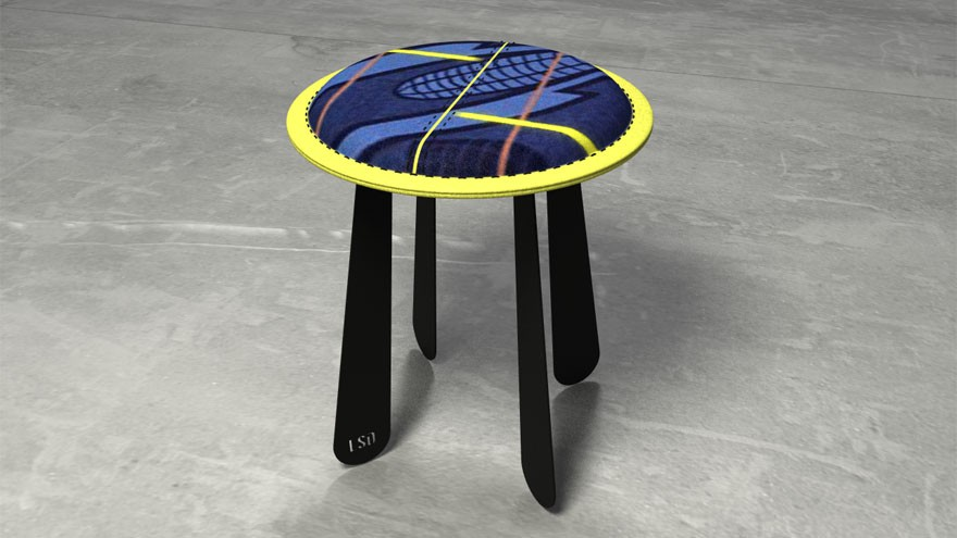 Soft stool, a collaboration with Thabo Makhetha.