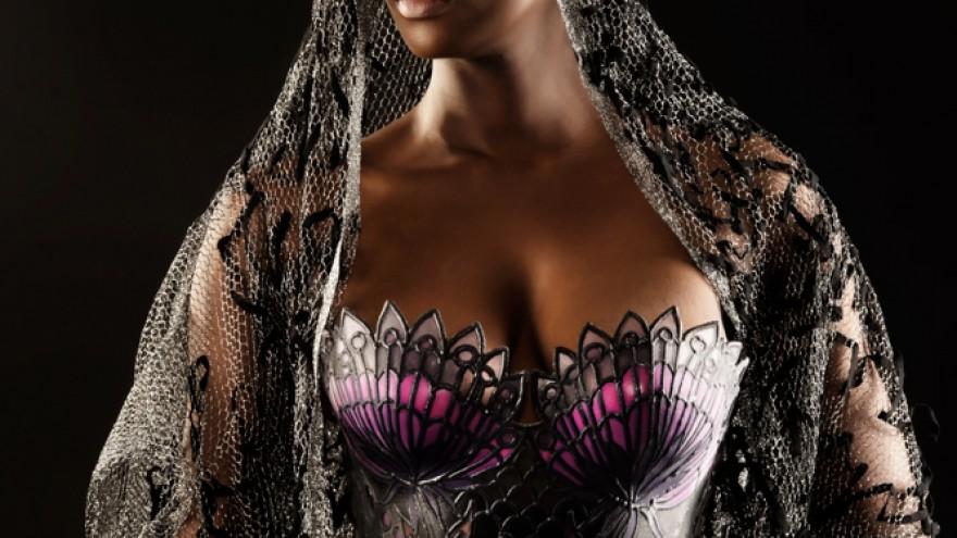 Garden of Eden corset designed and 3D printed by Janse van Vuuren. Image: Merwelene van der Merwe.
