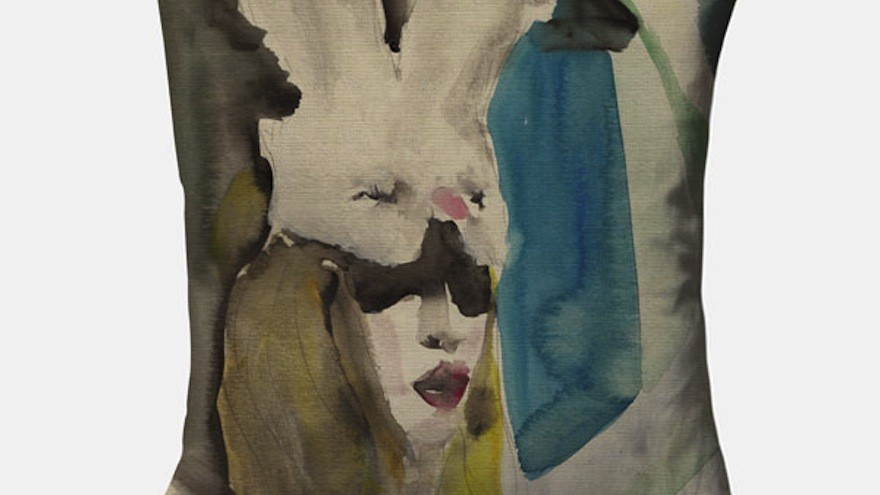 Bye Bye Bunny scatter cushion by Victoria Verbaan.