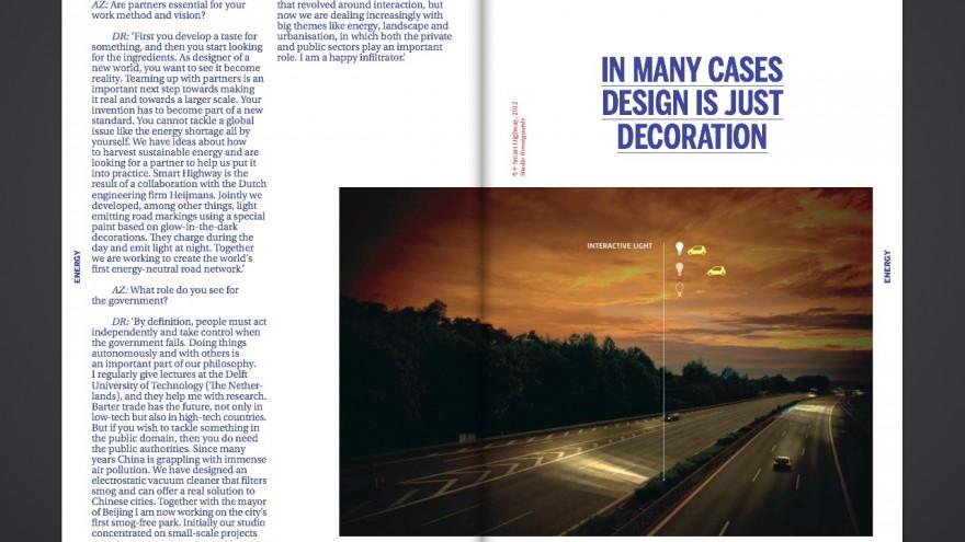 Interview with Dutch designer Daan Roosegaarde.