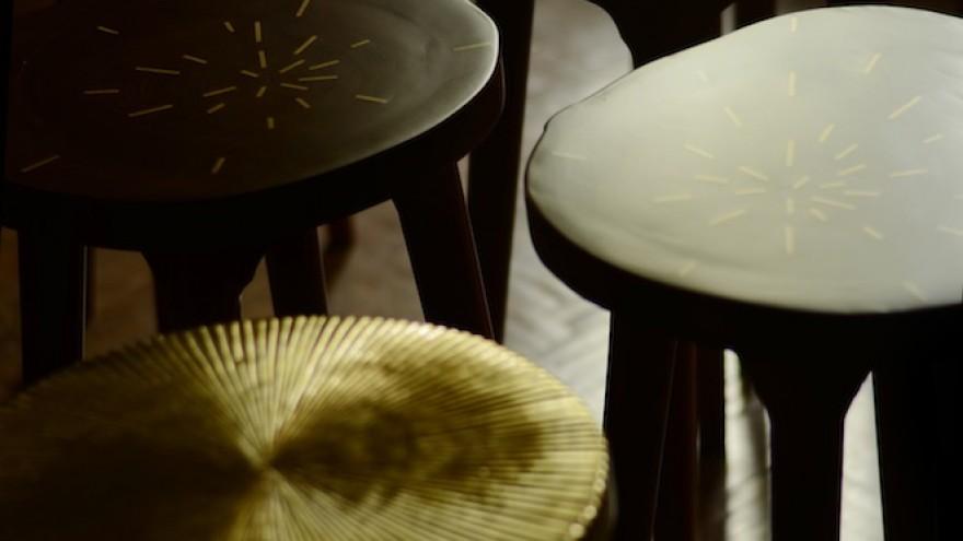 Tekku stools by Ira Studio.