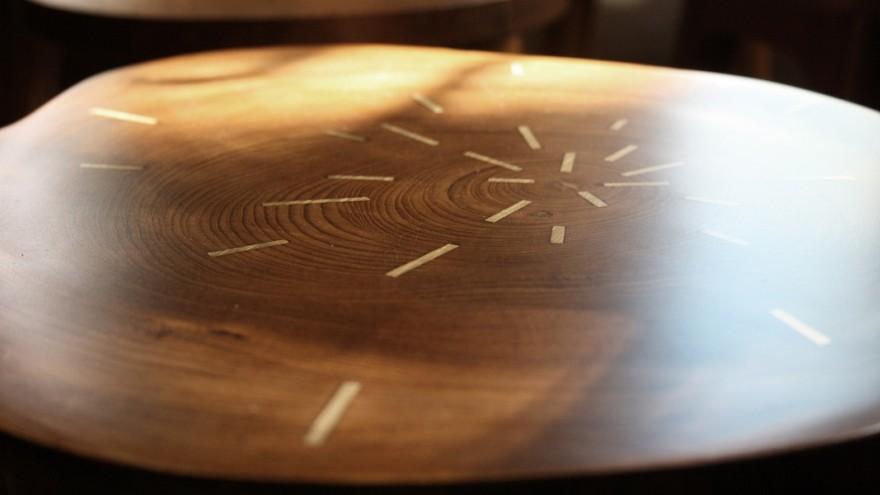 Tekku Wood stool by Ira Studio.