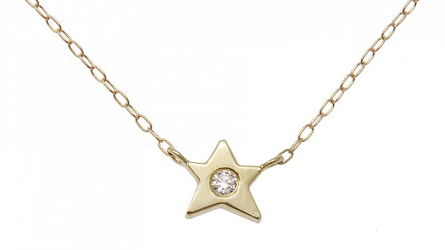 Lucky Star necklace by Kirsten Goss.