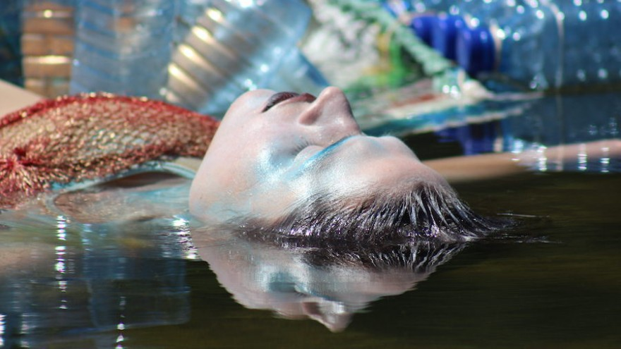 Celeste Theron uses performance art to create water awareness.