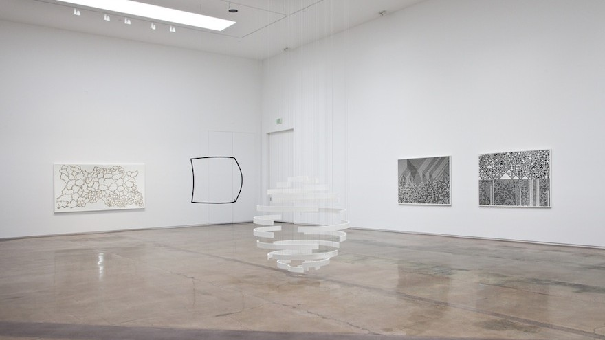 """""""Cartography of Control"""" solo exhibition by Troika. Image: Kohn Gallery."""