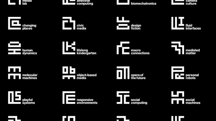 """One of Wired magazines """"27 of the Most Inspiring Designs From 2014"""": Michael Bierut's overhaul of the MIT media lab logo."""