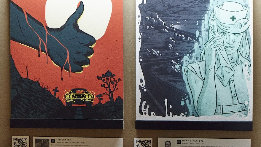 Paper Planes is a group exhibition at Design Indaba Expo featuring 44 different artists' interpretations of South African myths and legends.