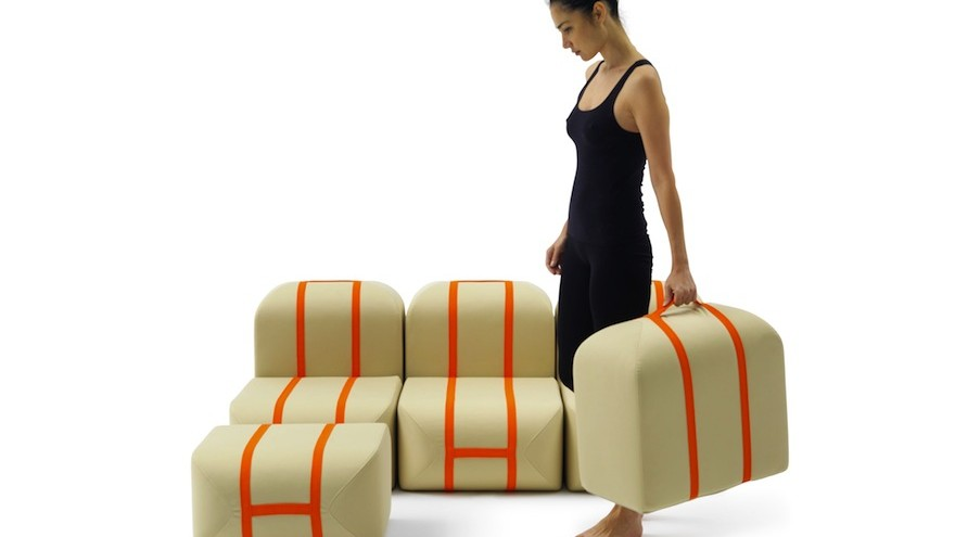 Self-made Seat by Matali Crasset for Campeggi at Salone del Mobile 2015.