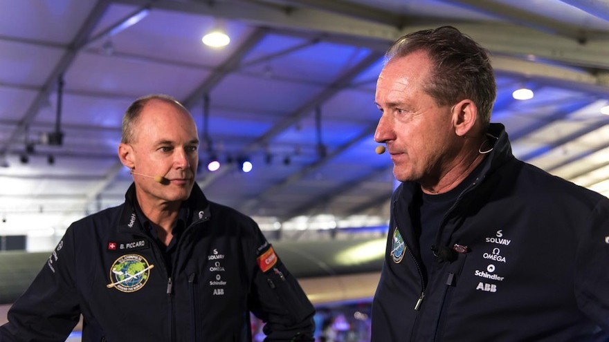 Bertrand Piccard and Andre Boschberg.