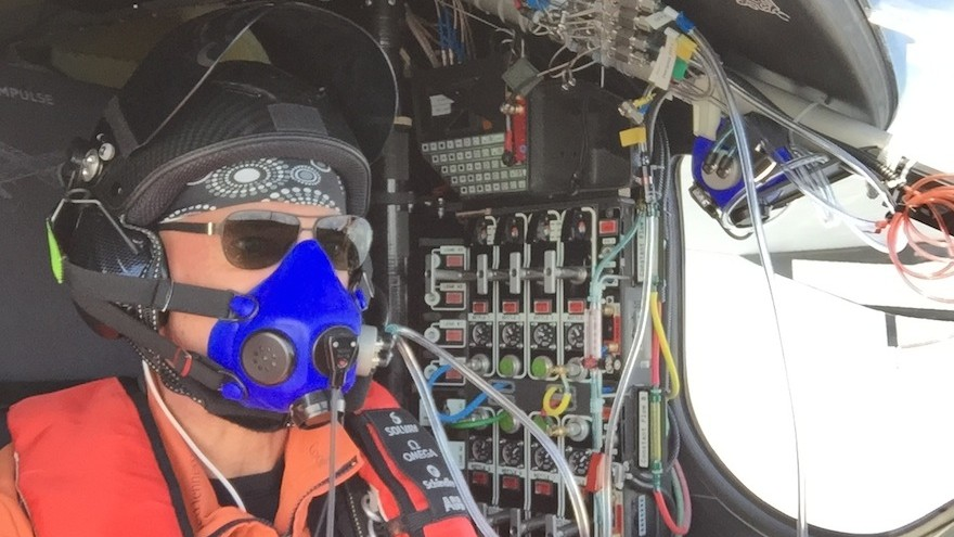 Piccard in the cockpit.