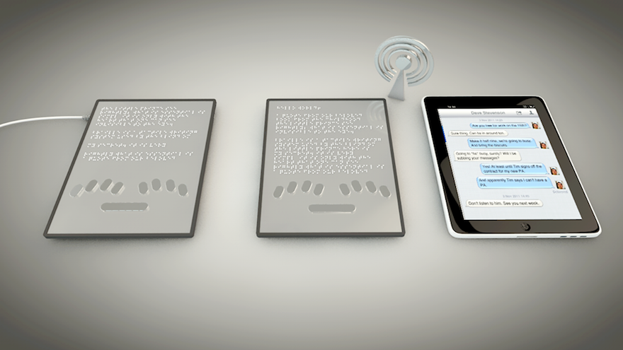 Blitab is the world's first tactile tablet device for blind and visually impaired people, enabling them to browse the web on an innovative Braille screen.