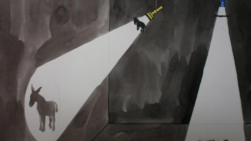 Urban shadows, project by Luzinteruptus illustration by Marta Menacho