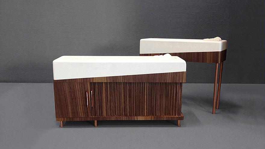 Géraldine Biard's furniture aims to ease the burden on dementia sufferers.