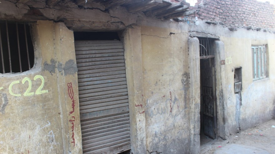 These conditions are typical of the slums in Cairo, Egypt.