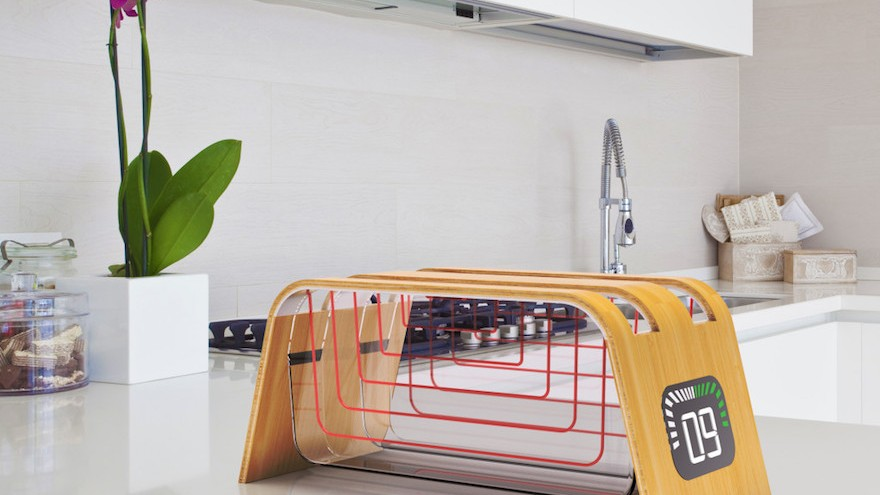Designer James Stumpf has come up with a see-through toaster so users can see how brown their toast is getting