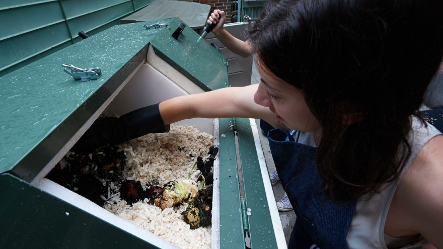 Composting muslin