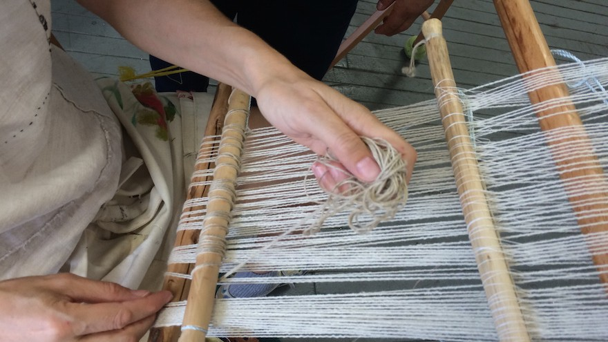 Fashion designer and professor Pascale Gatzen founded the weaving cooperative Friends of Light