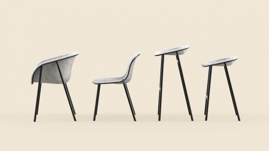 The LJ Series By Dutch Studio De Vorm Is A Range Of Chairs And Stools That