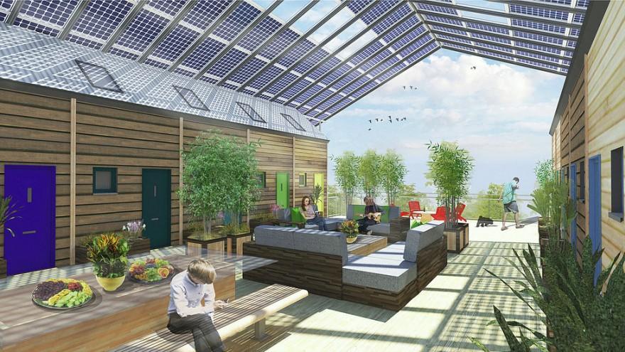 Pods designed to live above existing car parks