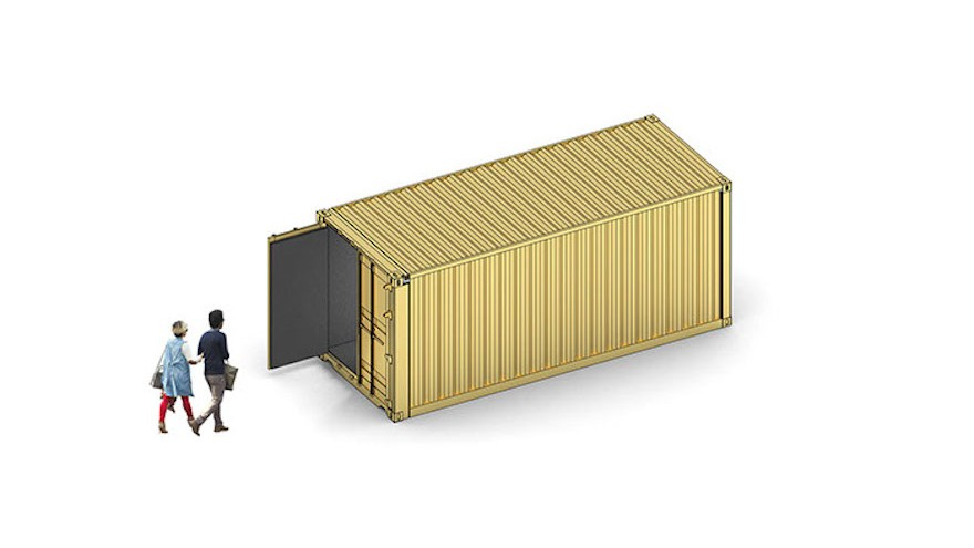 The golden Portal shipping container