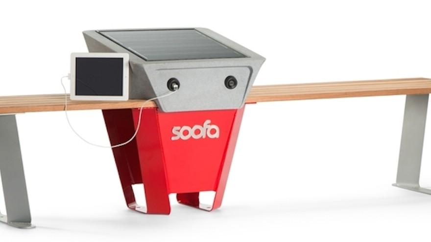 Soofa Bench integrates technology with the streets